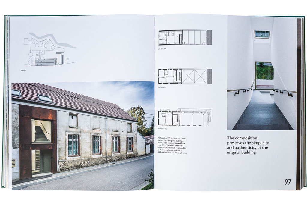 Chris van Uffelen's 'When a Factory Becomes a Home' pages 96-97 - ACBS Architectes project of a school conversion into housing unit